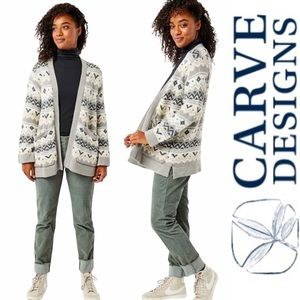 NWT Carve Designs Idlewood Cardigan Sweater m